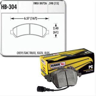 Hawk Performance Ceramic Brake Pad HB304Z 598