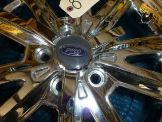 07 08 2009 FORD MUSTANG V6 CHROME 16 MAG ALUMINUM RIM WHEEL & SPINNER