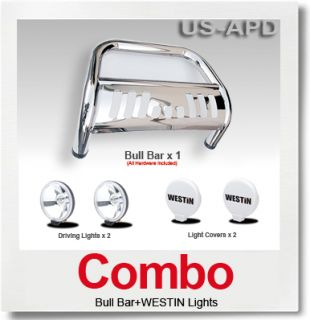 Combo 04 10 Dodge Durango Bull Bar s s Westin Light