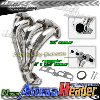 Altima 02 06 4CYL L4 QR25DE 2 5L T304 Stainless Steel Performance