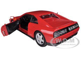 Ferrari 348 TB Red 1 18 Diecast Model Car by Hotwheels X5532