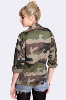 Urban Vintage F2 Army Camo Military Jacket Camouflage Unisex