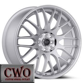 18 Silver Ruff R355 Wheels Rims 5x100 5x114 3 5 Lug Jetta Altima