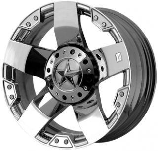 XD Rockstar Chrome 20x8 5 Chevy GMC Ford Dodge Jeep