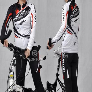 2012 Cycling Bicycle Outdoor Women Long Sleeves Jersey Pants s XL