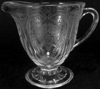 Vintage Hazel Atlas Glass Clear Crystal Royal Lace Pattern 8oz. Footed
