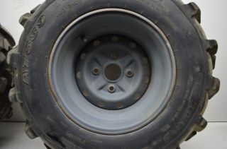 02 Suzuki Eiger 400 4x4 Front Rear Wheels Rims Tires LTA400F