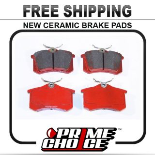 Premium New Complete Ceramic Disc Brake Pad Set for Rear Full Pair