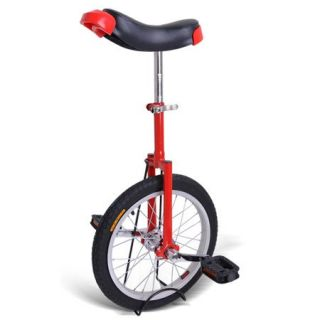 Red 16 inch in 16 Mountain Bike Wheel Frame Unicycle Cycling Bike