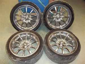 20 Boss 5 Lug Chrome 10 Spoke Wheels Rims LKQ