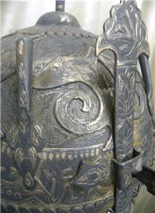 Indo Persian Islamic Demon Devil Face Battle Warrior Helmet Koran