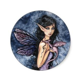 Gothic Fairy Dragon Sticker by Molly Harrison