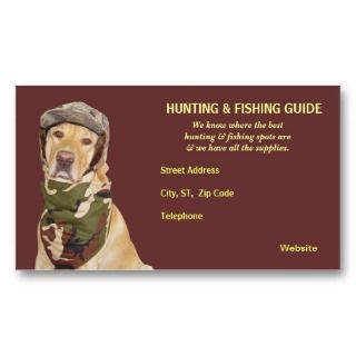 Hunting/Fishing Guide Business Card Template