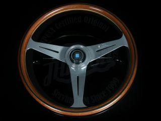 Nardi Classic Wood Grain Seering Wheel w Polished Spokes Horn Buon