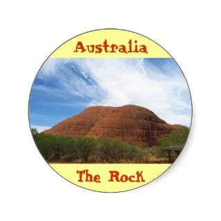 Australia The Rock cool sticker design
