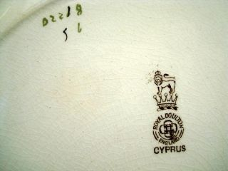 Antique Staffordshire English Brown Transferware Plate Cyprus 1890