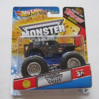Hot Wheels Monster Jam Truck Topps Card Son UVA Digger 1st Edition