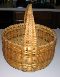 Vintage Indian Market Basket Great Lakes Round Large