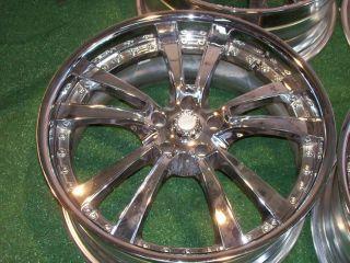 20 Mercedes Chrome Wheels s CL C CLK E Class S500 CL500 S550 S430 S420