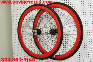Retrospec Bicycles SEALED Bearing Super Deep V Wheels with CST Tires