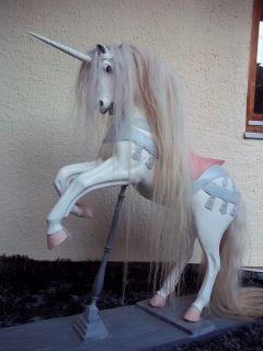 Vintage Magic Carousel Horse Unicorn Mythical Creature Fairground