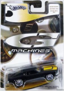 Hot Wheels G Machines 70 Mustang Mach 1 J2723 Mint Cond 2005 Black