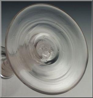 Georgian 18thC English Cotton Twist Wine Stem Glass