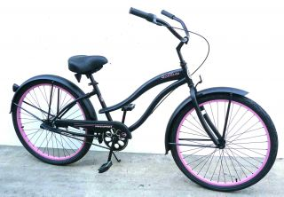 26 Beach Cruiser Bike Bicycle Micargi Stealth 3 Speed