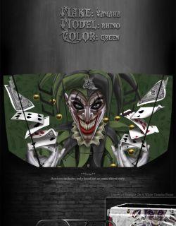 Yamaha Rhino Hood Graphics Kit The Jesters Grin Joker Green Model 90