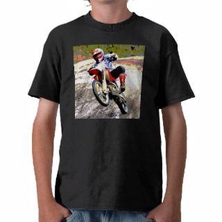 Dirt Bike Wheeling in the Mud in Color Tee Shirts