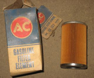 You are bidding on an NOS AC GF 157 Fuel Filter Element for Cainsters