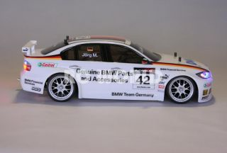 Tamiya 1 10 RC BMW 320SI Dell Race Car Halo L E D Lights Mint Ready to