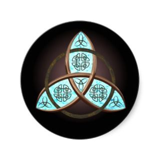 Celtic Trinity Knot Round Sticker