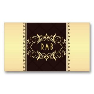 Black And Gold Metal Look Business Card