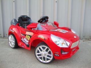 Red RC Ride on Car Kids Power Remote Control Wheels