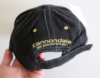 Cannondale 30th Anniversary Black Lightning Hat Cap Saeco CAAD7