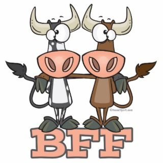 BFF cow bes friends forever buddies Phoo Sculpures