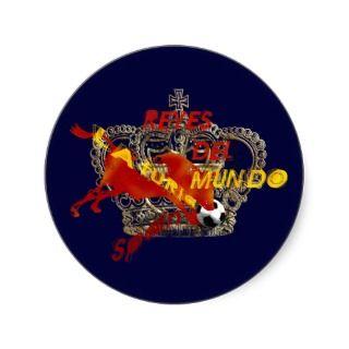 Espana Reyes Del Mundo Toro Futbol Gifts Round Sticker