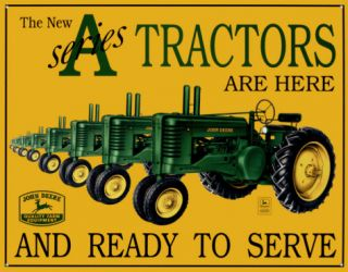 John Deere A Series Tin Sign