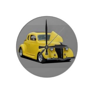 Classic Customized Hot Rod Car Clock