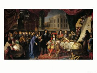 Jean Baptiste Colbert (1619 1683) Presenting the Members of the Royal Academy of Science Giclee Print by Henri Testelin