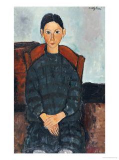 A young Girl with a Black Apron, 1918 Giclee Print by Amedeo Modigliani