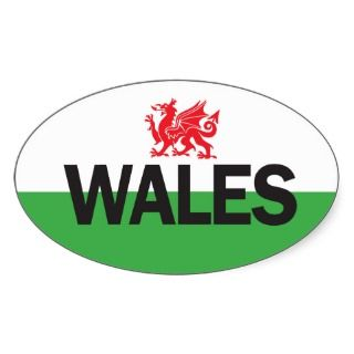 Euro Oval Wales Car Sticker