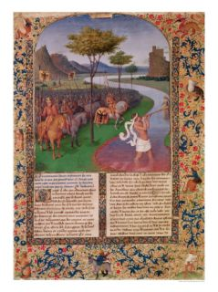 Julius Caesar Crossing the Rubicon circa 1470 Giclee Print by Jean Fouquet