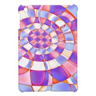 Pastel Abstract Quilt Pattern iPad Mini Case
