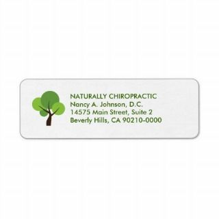 Modern Tree Logo Chiropractic Avery Labels by chiropracticbydesign