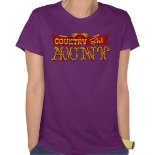 Country Girl Aunt Womens Hanes Nano T Shirt