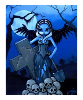 Gravedigger   a Gothic Angel Giclee Print by Jasmine Becket Griffith