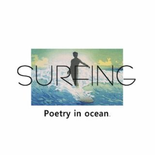 TOP Surfing Poetry in Ocean Photo Cut Out