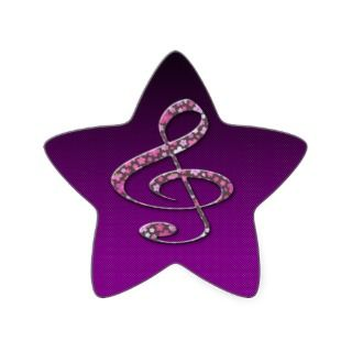 Clef Musical Symbol Star Stickers
